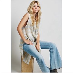 Free People Sunny Days Tunic Knit Long Top Striped